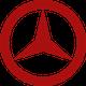 Mercedes Benz Logo in rot
